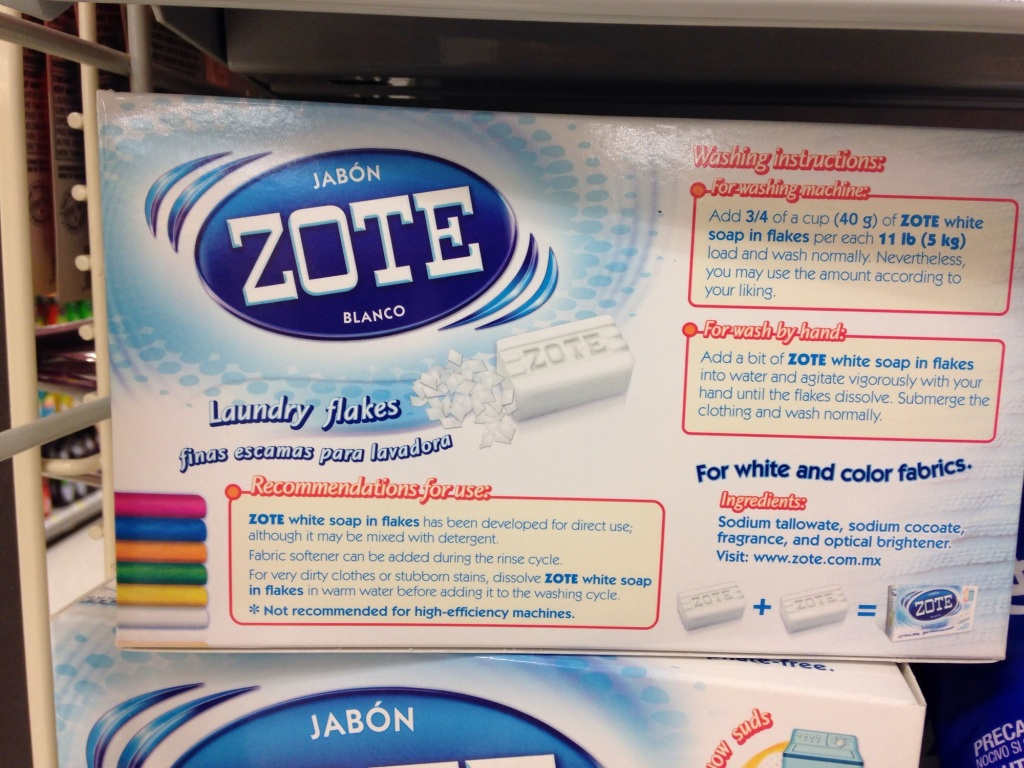 Zote Soap White Clothes